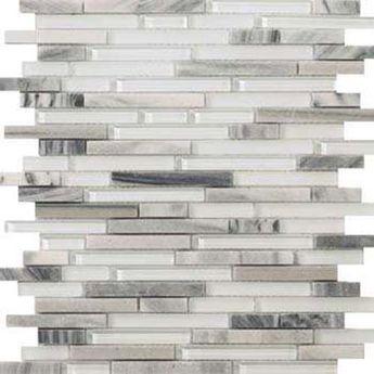 Emser Tile Lucente - Grazia Linear Stone & Glass Mosaic Blend