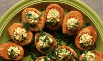 These Buffalo Fried Deviled Eggs Are The Perfect Party App!