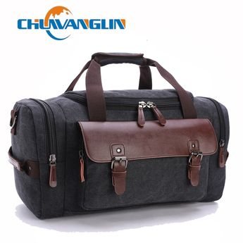 71e3198578a9 Find More Travel Bags Information about Chuwanglin Canvas Leather Men  Travel Bags Carry on Luggage Bags