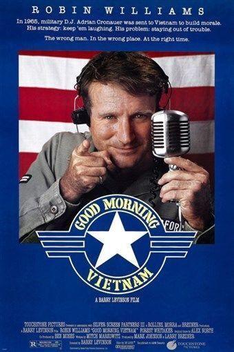 ROBIN WILLIAMS good morning vietnam movie poster ARMY DJ COMEDY 24X36 1987