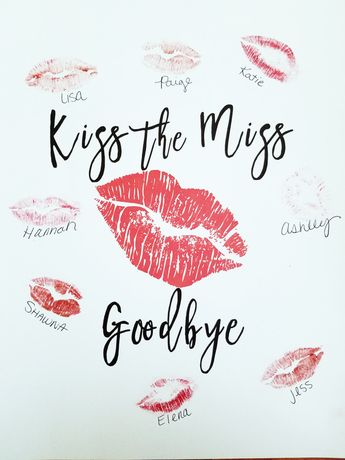 Kiss the Miss Goodbye sign / Bachelorette / Bridal Shower / Wedding / Instant Download / Printable