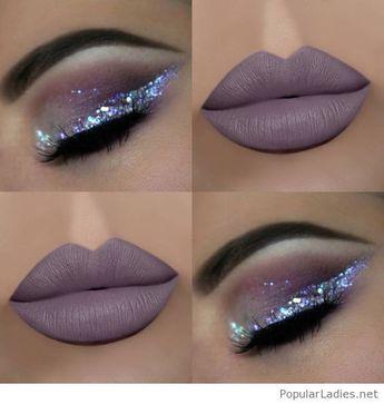 Große Lippen und Glitzer
