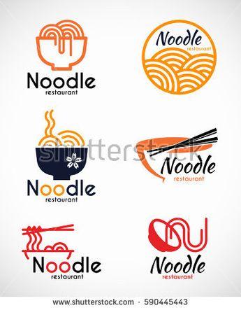 Noodle Restaurant Food Logo Vector Design Stock Vector ...