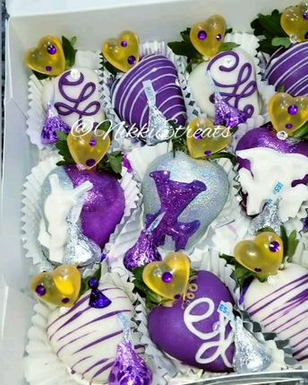 Purple, Silver and White Multi Brand Chocolate Covered Strawberries x @darealnikkie  #nowthatsludicrous  #NikkiEtreats #blingberries #Diva #ysl #gucci #louisvuitton #chanel #candyapples #chocolatecoveredstrawberries #chocolatestrawberries #chocolatestrawberry #chocolate #strawberry #infusedstrawberries #infused #chocolateheels  #highheels  #highheelshoes #chocolatehighheel #chocolatehighheels #chocolatehighheelshoes  #chocolatehighheelshoe #atlanta #atlart #atlantaart #atlstrawberries