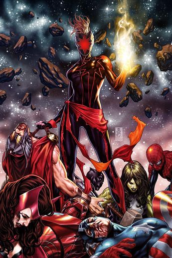 Marvel Comics. Comic Book Artwork • Dark Captain Marvel by Mark Brooks. Follow us for more awesome comic art, or check out our online store www.7ate9comics.com