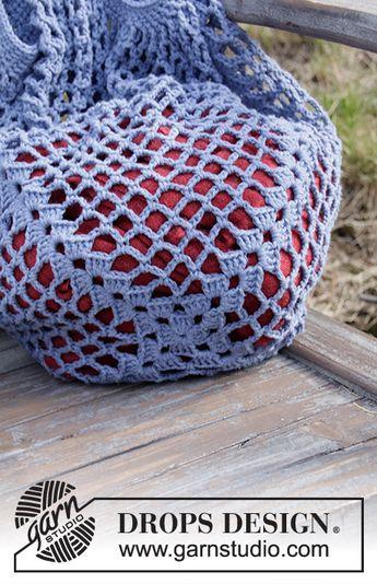 Pacific Blues / DROPS 199-15 - Modèles crochet gratuits de DROPS Design