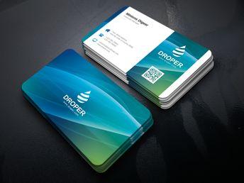 Luminous Elegant Corporate Business Card Template - Graphic Templates