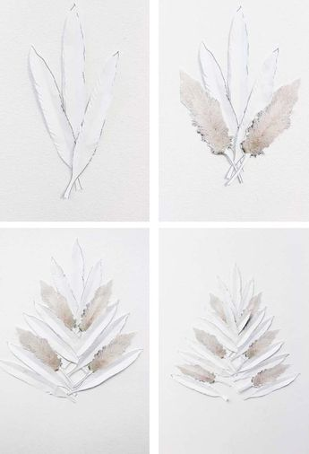 DIY Pampas Grass + Feather Faux Holiday Tree