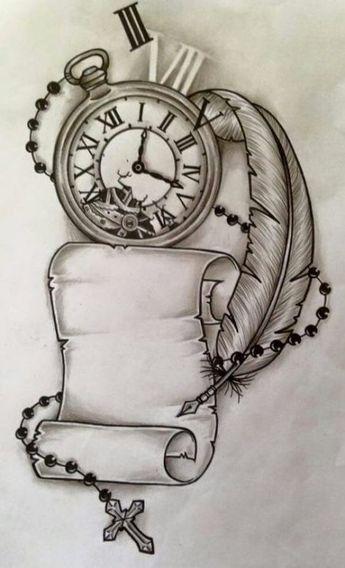 Trendy Tattoo Compass Drawing Design Clock Ideas