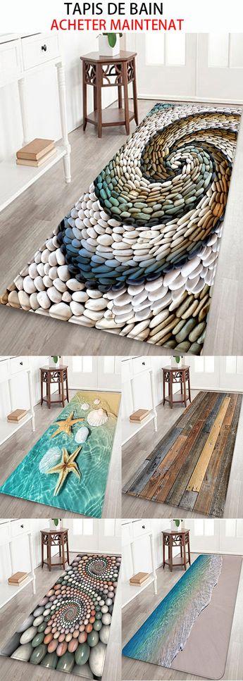 Tapis de bain pour salle de bain tapis chambre tapis Salon