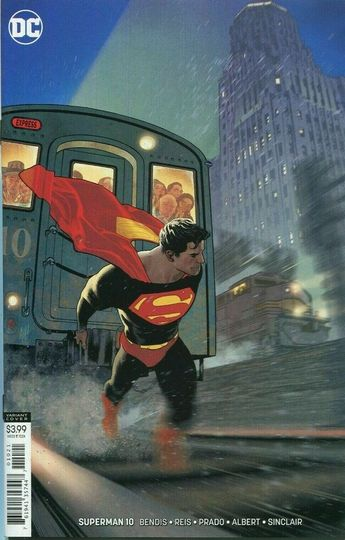 Superman Comic Issue 10 Limited Variant Modern Age First Print 2019 Bendis Reis
