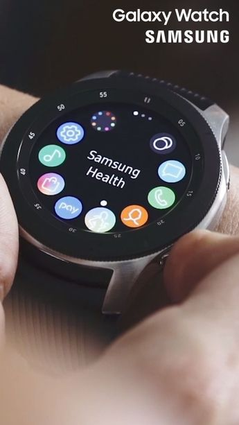 Introducing the Galaxy watch; your new personal trainer. -