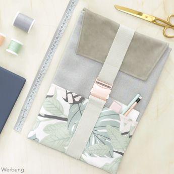 [Werbung] Im Video zeige ich euch, wie ihr eine passgenaue Laptoptasche nähen könnt. Die Laptophülle ist aus Canvas, Kunstleder und Gurtband. Vorne befindet sich eine aufgesetzte Tasche. Die DIY Laptop Tasche wird mit einer Klappe und einer Metallschließe verschlossen. Das Schnittmuster erstellt ihr euch passgenau für euer Laptop oder Tablet. Im Video zeige ich euch wie es geht. Nähanleitung von DIY Eule.