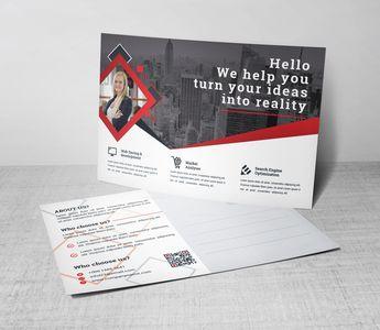Attorney Corporate Postcard Template 5.99