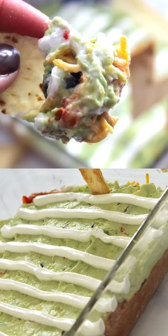 On the hunt for football party food?? It doesn't get much cuter than this lookalike football field 7 layer dip! This is EASY and delicious too!