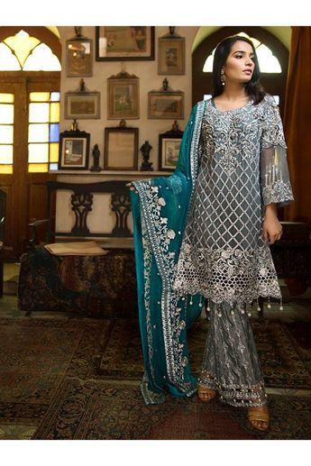 340f3c877d Flossie Vol-4 Chiffon Suits Collection Pinterest Media analytics ...