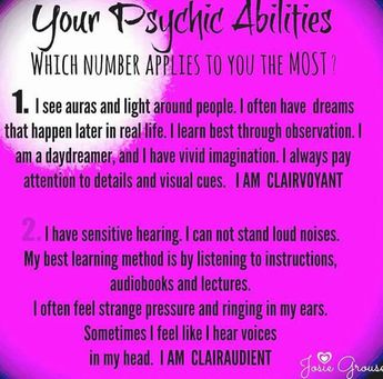 ★  Psychic Abilities - Clarivoyant? or Clairaudient?  ★      Survive, Thrive, Inspire, & LYAO!  Blessed Be