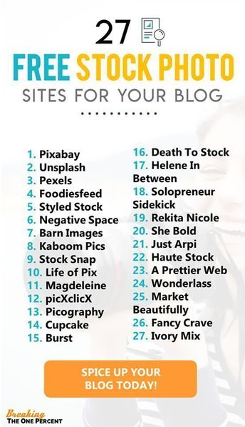 27 Best Places to Find FREE Stock Photos That Look Amazing High quality stock photos are the heart and soul of most good looking pieces of blog content. Most of us aren't professional photographers after all. See how you use tens of thousands of stock photos free of charge with this list of 27 places to get free stock photos for your blog (high resolution options available too)!