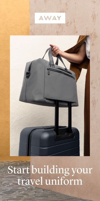 Our bags are designed to attach to any Away suitcase as supporting members of your travel uniform.