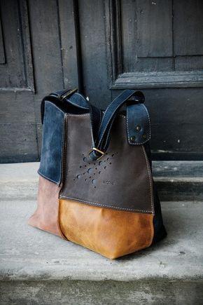 Full grain leather bag handmade bag tote bag shoulder leather bag orginal  bag colored leather handmade 9ff76d77b8fc6