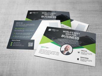Premium Stylish Postcard Design 002804 - Template Catalog