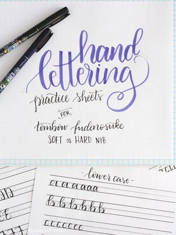 Free Printable Hand Lettering Practice Sheets