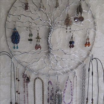 Jewelry Holder Earring Tree With Necklace Hooks Organizer Of Life