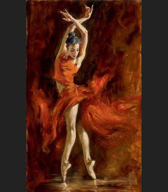 Andrew Atroshenko Fiery Dance Painting