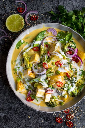 Vegan Red Thai Coconut Curry