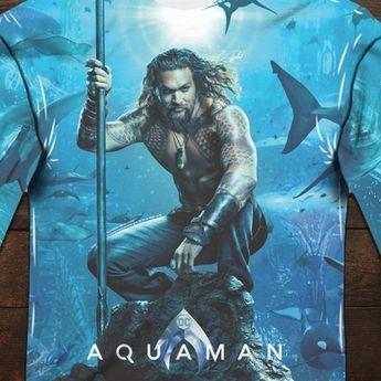 "Aquaman Art Poster 48x32/"" 36x24/"" 2018 Movie Jason Momoa Print Silk"