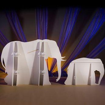 6 ft. 2 in. Wild Safari Dreams Elephant Standees