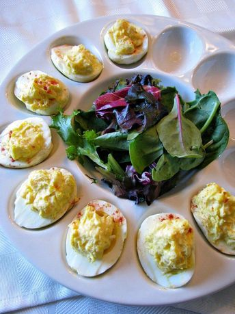 Creamy Horseradish Deviled Eggs