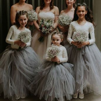 Sweet Two Piece Flower Girl Dresses from dressydances