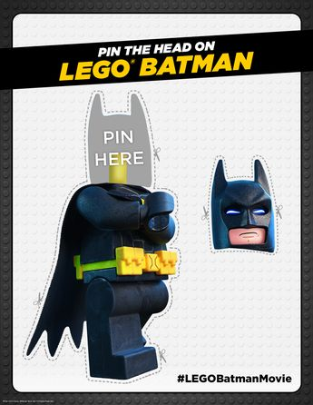 Um, gonna be honest. I don't love that the idea of this party game is to repair my severed head, but whatever. Click here to print! | The LEGO® Batman Movie | I