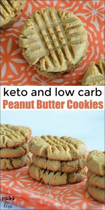 These Keto Peanut Butter Cookies are a great once in a while treat to keep you on program while satisfying a cookie craving. #Keto #Ketopeanutbuttercookie #ketorecipe