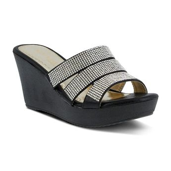 3f43be6033a Patrizia Women s Cinderella Wedge Sandal. You are a modern day princess  with a royal penchant