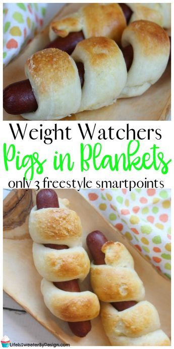 Weight Watchers pigs in blankets are only 3 Freestyle SmartPoints each and use the amazing 2 ingredient dough. These are easy to make and one of my favorite Weight Watchers recipes!