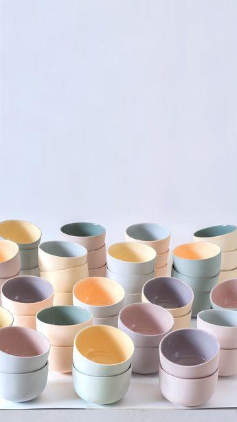Porcelain tea cup handmade, Scandi minimalist cup, Small succulent planter, Pastel matte teabowl green tea, Modern ceramic planter, Chawan