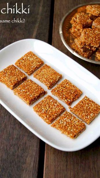 Til chikki recipe | sesame chikki recipe | til ki chikki or til gajak