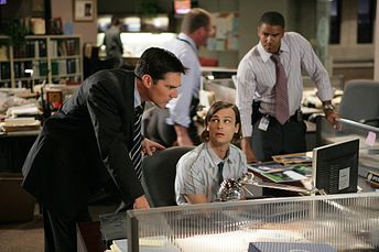 Thomas Gibson, Shemar Moore, and Matthew Gray Gubler in Criminal Minds (2005)