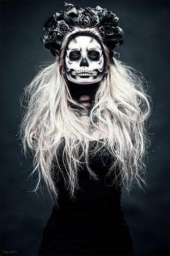 30 Sugar Skull Halloween Makeup Ideas to Look Scary