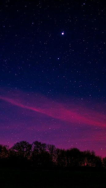 Download 360x640 wallpaper Blue pink sky, starry night, nature, Nokia N8, C5, C6, C7, E7, X6 Nokia 5800, 5230, 5228, Sony Ericsson Vivaz, 360x640 hd image, background, 7560