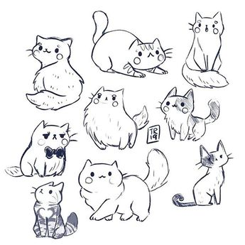 """Taylor&Ross on Instagram: """"A lot of kitties sketches from yesterday😻❤️ I was really in a cat mood and what time is more perfect to post it then #caturday? Thank you…"""""""