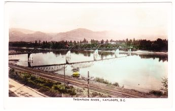 BC – KAMLOOPS, West End Auto Court, Thompson River c 1945-1