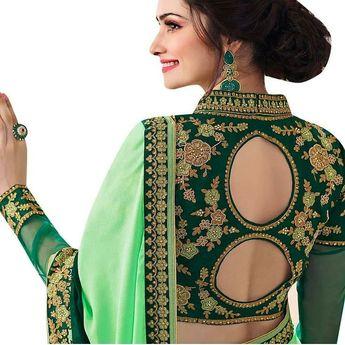 adb104f27598b2 20 Latest Trending Silk Saree Blouse Design