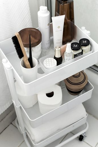 How to organize and style your home with a rolling cart.
