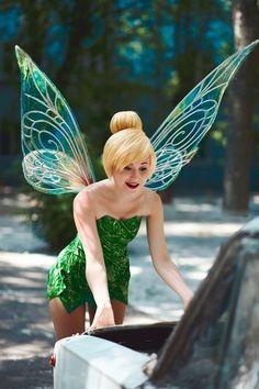 Tinkerbell Kostum Frauen Fasching Karneval Idee Perucke Fl