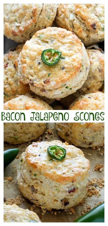 Bacon, Pepper Jack, and Jalapeno Scones - Baker by Nature