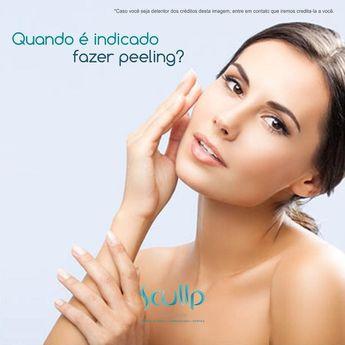 Peeling é um tratamento que utiliza ácido laser ou aparelho de abrasão para melhora da pele.  Peeling é um tratamento que utiliza ácido laser ou aparelho de abrasão para melhora da pele. Procedimento: peeling superficial médio ou profundo. Realização: promove a renovação da pele por meio de uma descamação controlada. Resultado: melhora suaviza e atenua vários problemas da pele como: 1. Manchas (melasma sardas melanoses solares); 2. Cicatrizes de acne; 3. Rejuvenescimento; 4. Queratose pilar; 5.