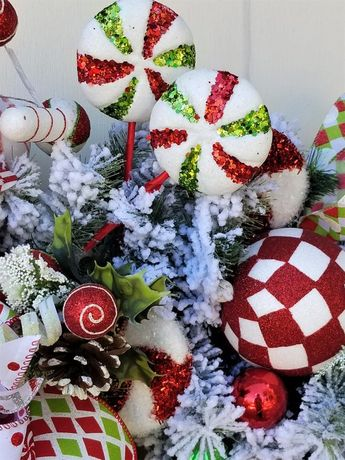 Courtly Check Ski Santa *NIB* #53916-60 Mackenzie-Childs Glass Ornament